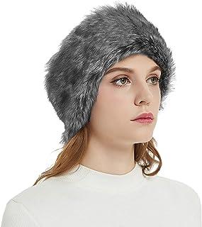 37684b2322cc91 Faux Fur Winter Headband-Womens Fashionable Ski Hat Ear Warmer Headwrap  with Elastic
