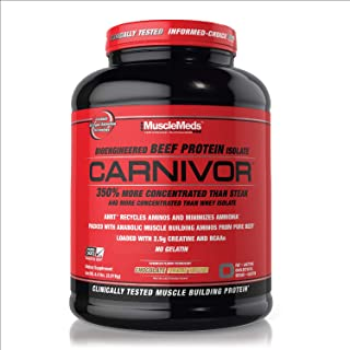 MuscleMeds Carnivor Beef Protein Isolate Powder, Chocolate Peanut Butter, 4.4 Pound