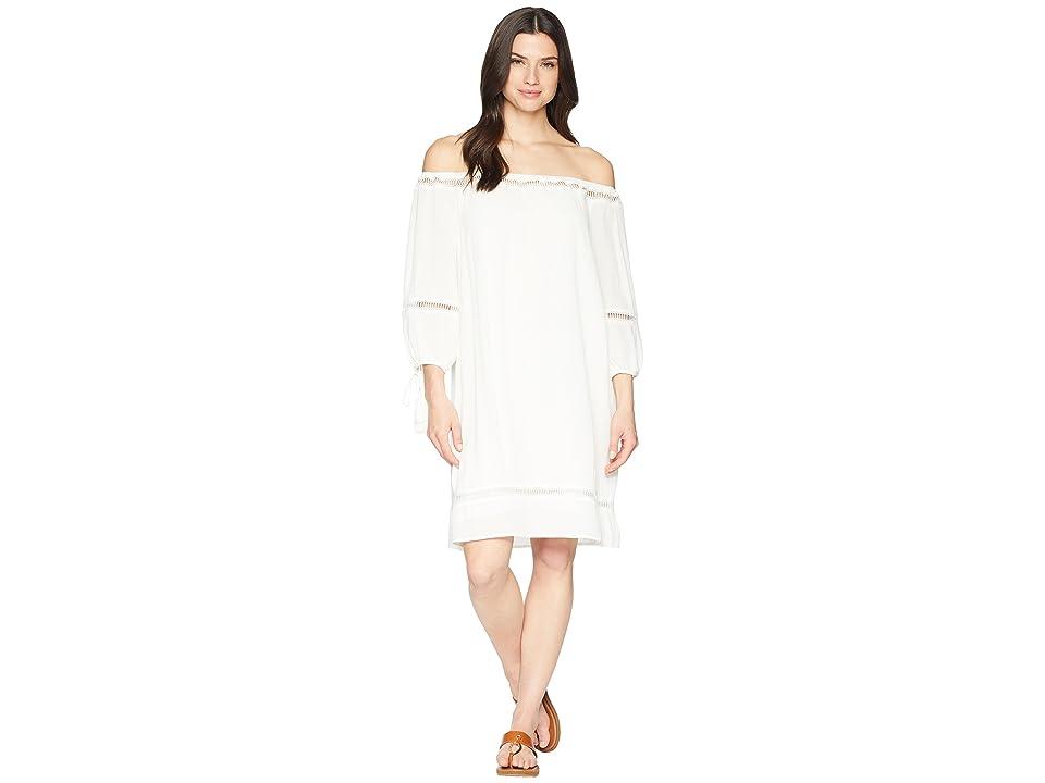 Wrangler 3/4 Length Sleeve Dress (Ivory) Women