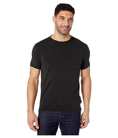 John Varvatos Star U.S.A. Grant Short Sleeve Cotton Crew (Black) Men