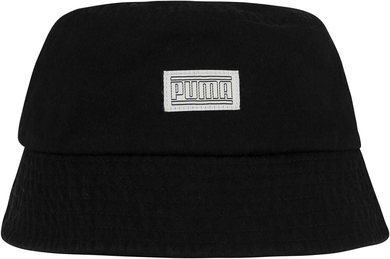 PUMA Women's Evercat Saxon Bucket Cap, Black/Marshmallow, OS at  Men's Clothing store