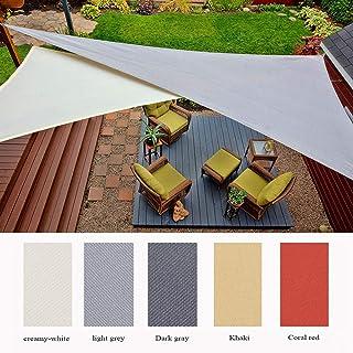 SUNNY GUARD Tenda a Vela Triangolare 3.6x3.6x3.6m Antivento Impermeabile Protezione Raggi UV per Giardino terrazza Campeggio Antracite