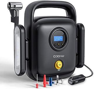 comprar comparacion COOAU Compresor Aire Coche Portátil, 150PSI 12v Protección contra Sobrecalentamiento y LED Luz de Emergencia, Fusibles Ext...