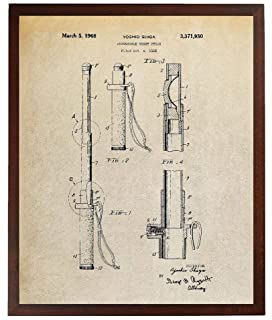 Turnip Designs Night Stick Patent Poster Police Officer Gift Self Defense Baton Law Enforcement Gift TDP406