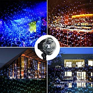 Christmas Projector Lights, Weepong Waterproof Rotating Snowfall Landscape Lights with RemoteOutdoor Indoor Snowflake Light Projectors for Xmas Halloween Holiday Party Garden Wall WeddingDecorations