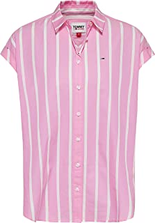 Tommy Jeans womens Tjw Relaxed Stripe Shirt Ss Shirt