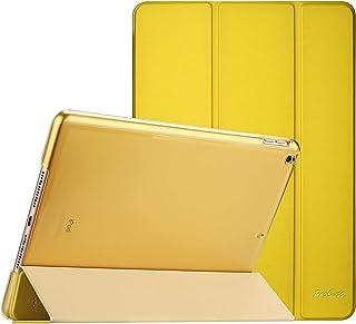 """ProCase iPad 10.2"""" 8/7 ケース スマートカバー 超スリム 三つ折りスタンド フォリオ保護ケース 半透明バックカバー 対応機種: iPad 10.2"""" 第8世代 2020/ 第7世代 2019 - アンティークモス"""