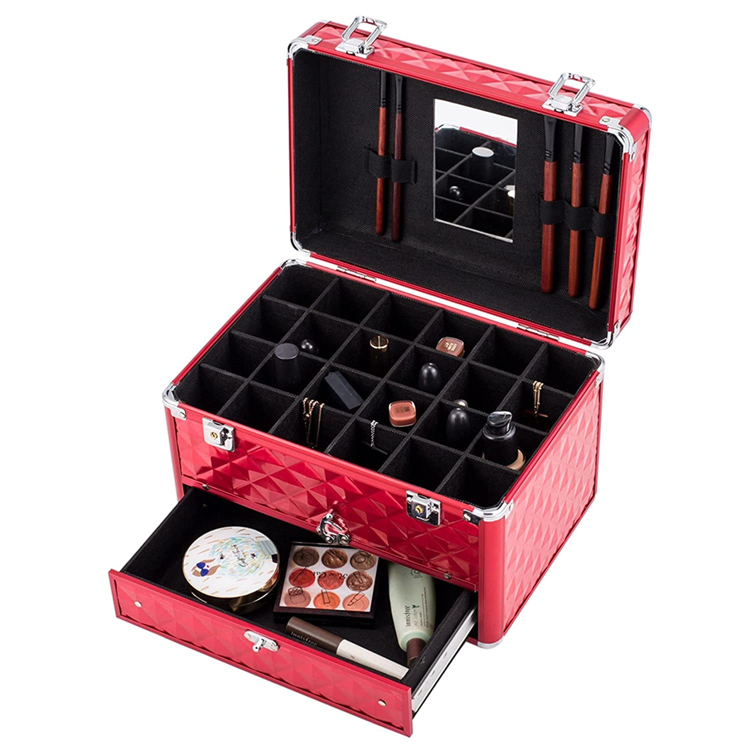 Makeup Train Case with 24 polish compartments Purchase Charlotte Mall Nail storage