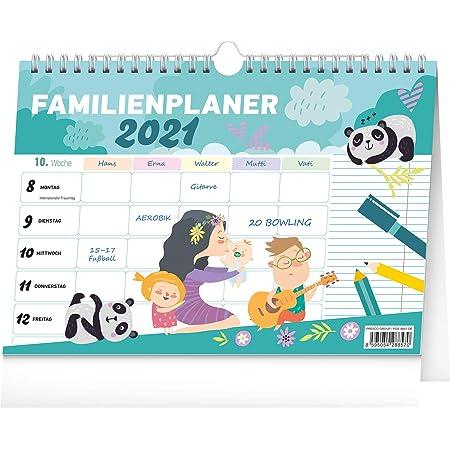 Familienplaner 2021 Familienkalender 5 Spalten Kalender Planer Wandkalender f/ür Familie Planungskalender 30 x 30 cm