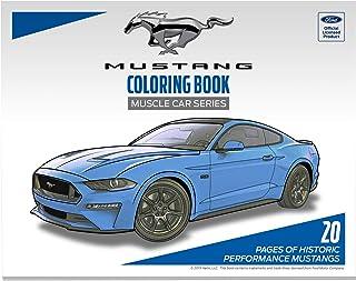 كتب تلوين فورد موستانج مرخصة رسميًا للبالغين، إصدار سيارات عضلات، 20 صفحة
