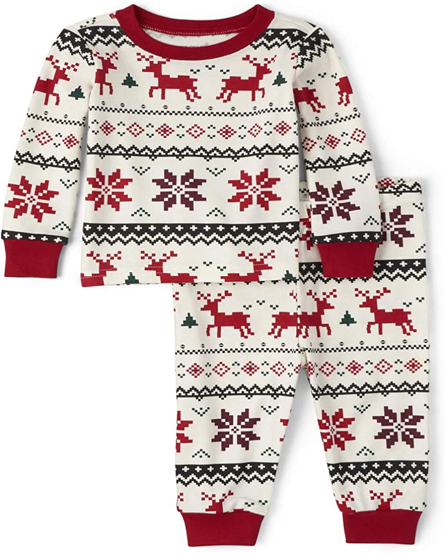 The Children's Place Baby Boys' Christmas Pajama Set