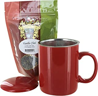 Teaz Café Mug with Vanilla Chai Tea Gift Set