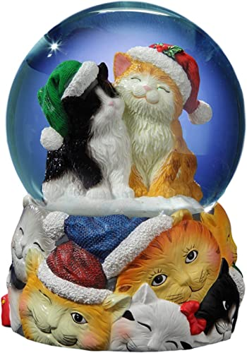 The San Francisco Music Box Company Christmas Cats Musical Snow Globe