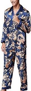Pajamas Men Men Pajamas Tops and Pants Sets Comfortable Sizes Silky Comfortable Homewear Sleep Negligee Shirts Two Piece S...