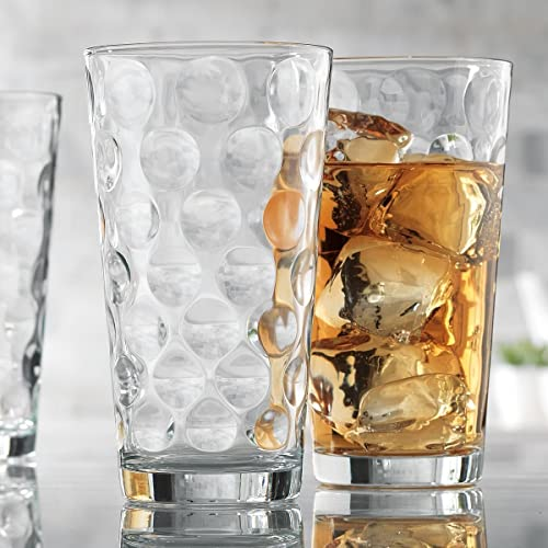 c0cdf4cd0b98 Attractive Bubble Design Highball Glasses Clear Heavy Base Tall Bar Glass  Bubble Design - Set Of
