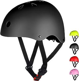 LAMONKE ヘルメット 子供 大人兼用 自転車ヘルメット スケボーヘルメット スポーツヘルメット スケートボード アイススケート サイクリング 通学 スキー バイク 保護用ヘルメット 軽量 通気性 サイズ調整可能 子供ヘルメット 幼児 小学生