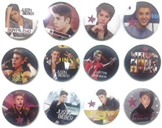 JUSTIN BIEBER (2) Awesome Quality Lot 12 New Pins Pinback Buttons Badge 1.25