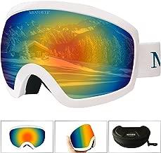 motoeye Ski Goggles - Over Glasses Design Snow/Snowboard Goggle for Men,Women & Youth (100% UV Protection + Long-time Anti-Fog + Mirrored)