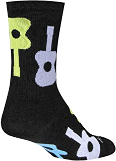 SockGuy, Pick Me, Crew Sock, Sporty and Stylish, 6 Inches - Large/X Large