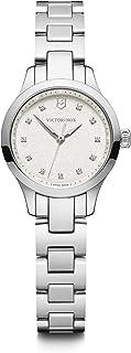 ساعة فيكتورينوكس للنساء سويسرية كوارتز مع سوار من الستانليس ستيل، فضي، 12 موديل 241875