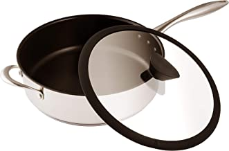 Ozeri Sauce Pan and Lid with a 100% PFOA and APEO-Free Non-Stick Coating developed in the USA, 5 L (5.3 Quart), Stainless ...