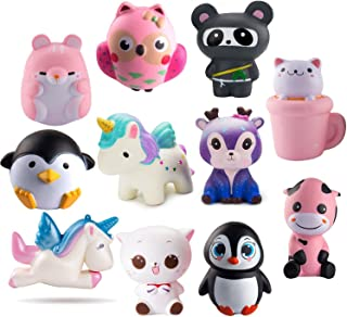 WATINC Random 3 Pcs Jumbo Animal Squishy Sweet Scented Vent Charms Kawaii Kid Toy , Lovely Stress Relief Toy, Animals Gift Fun Large
