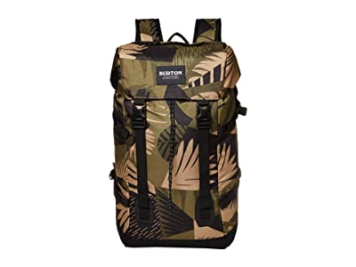 Burton Tinder 2.0 Backpack (Martini Olive Woodcut Palm) Backpack Bags