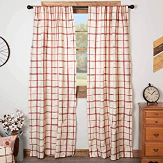 Best cranberry check curtains Reviews