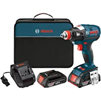 Bosch IDH182-02 18-Volt Lithium Ion Brushless Tool Kit with (2) 2.0Ah Lithium Ion Batteries, Charger and Carrying Case