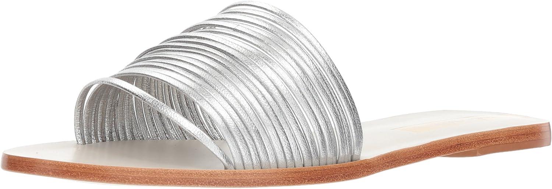 KAANAS Damen Guanabara Multi Strap Flat Slide Leather Flache Sandale