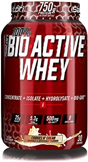 iSatori Bio-Active Whey Protein Formula With Added Bio-Gro For Weight Lifting And Muscle Recovery - Training And Exercise - 30 Servings - Cookies N' Cream