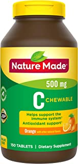 Nature Made Chewable Vitamin C Tablet, 500 mg, 150 Count