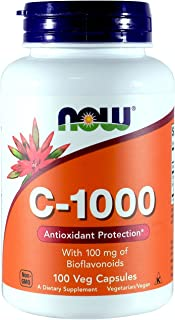 NOW  C-1000, with 100 mg of Bioflavonoids, 100  Capsules (Pack of 2)