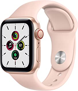 New Apple Watch SE (GPS + Cellular, 40mm) - Gold Aluminum Case with Pink Sand Sport Band