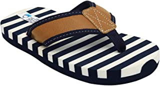 D'chica Boy's Sailor Stripes Slippers by Bro