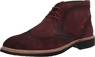 MARC JOSEPH NEW YORK Men's Leather Luxury Ankle Boot with Wingtip Detail