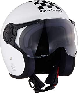 Royal Enfield White Open Face with Visor Helmet Size (M)58 CM (RRGHEJ000056)