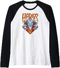 Disney Hercules Angry Hades Flames Portrait Logo Raglan Baseball Tee