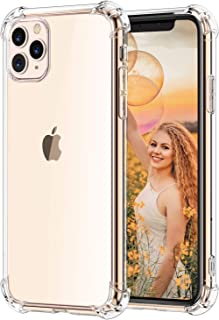 Matone for iPhone 11 Pro Max Case, Crystal Clear Slim Protective Cover with Reinforced Corner Bumpers, Flexible Soft TPU Cases Compatible with Apple iPhone 11 Pro Max (2019) 6.5-Inch