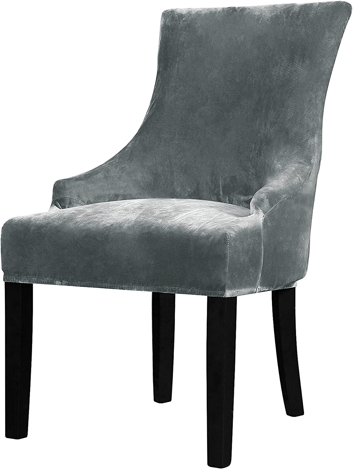 Colorado Springs Mall Lellen Velvet Stretch Our shop most popular Wingback Chair Reusable - Slipcover Cover