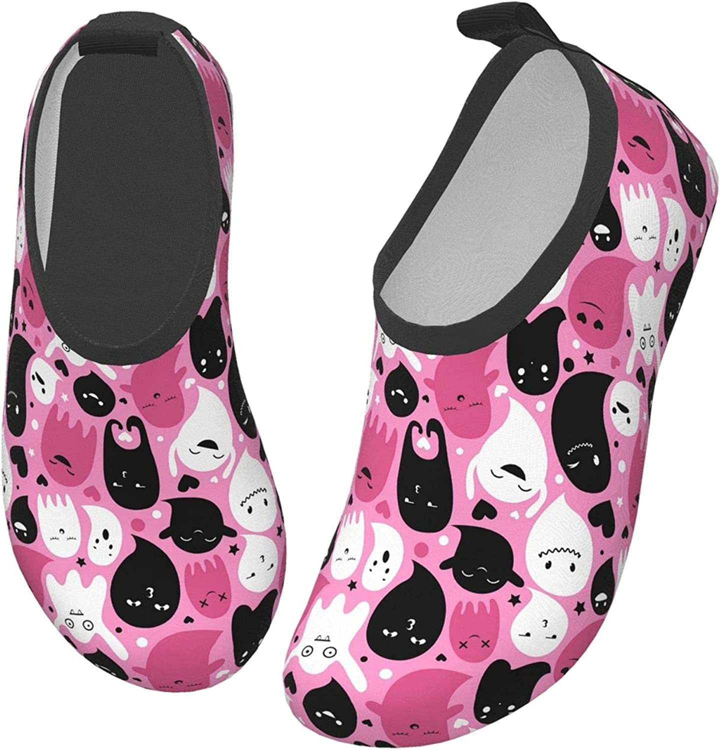 Jedenkuku Pink Ghost Halloween Horror Cute Children's Water Shoes Feel Barefoot for Swimming Beach Boating Surfing Yoga