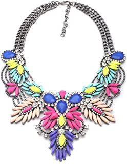 Fashion Statement Necklace Choker Collar Bib Necklace Vintage Boho Costume Jewelry for Women Girls