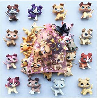 Emmas lps Pets (3pcs Random) lps Collie Short Hair Cat Rare Figures lps Accessories Lot 6pcs Kids Gift Yellow, Small