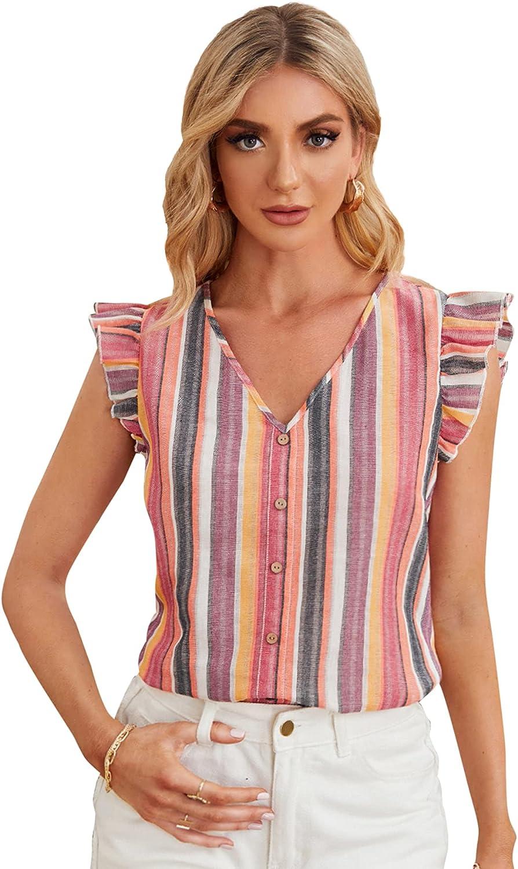Milumia Women's Boho Off Shoulder Tunic Top Ditsy Floral Ruffle Long Sleeve Blouse Shirt