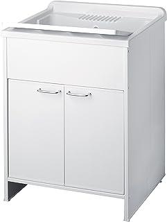 Negrari 9002 K Meuble avec Lavabo en PVC, Blanc, 50 x 60 x 85 cm