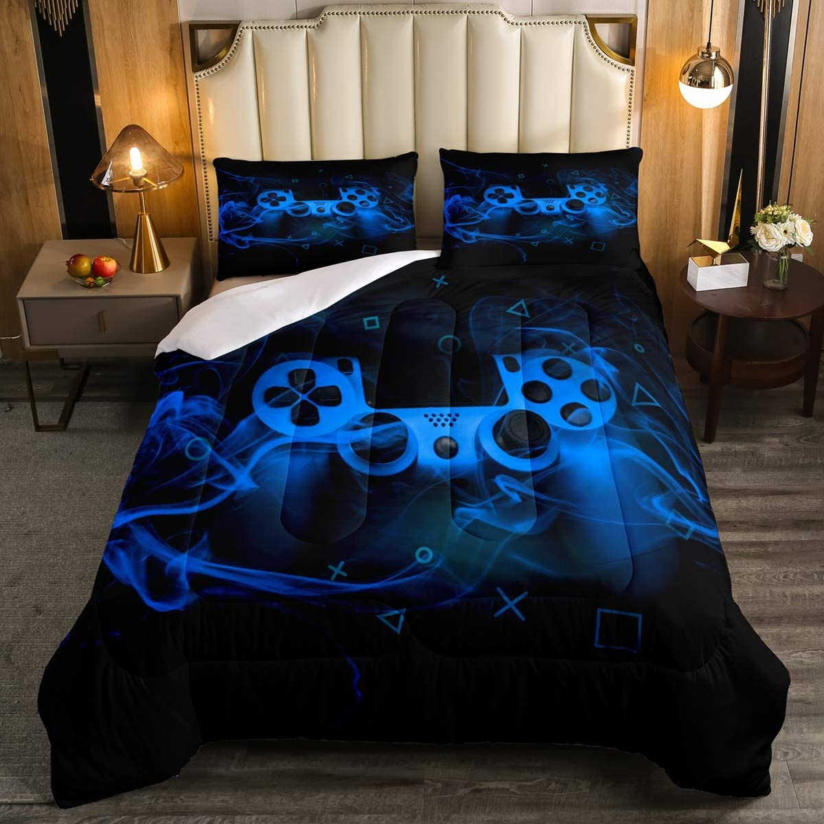 Ranking TOP3 Blue Video Games Quilted Duvet Lowest price challenge Full for Game Roo Kids Teens Boys