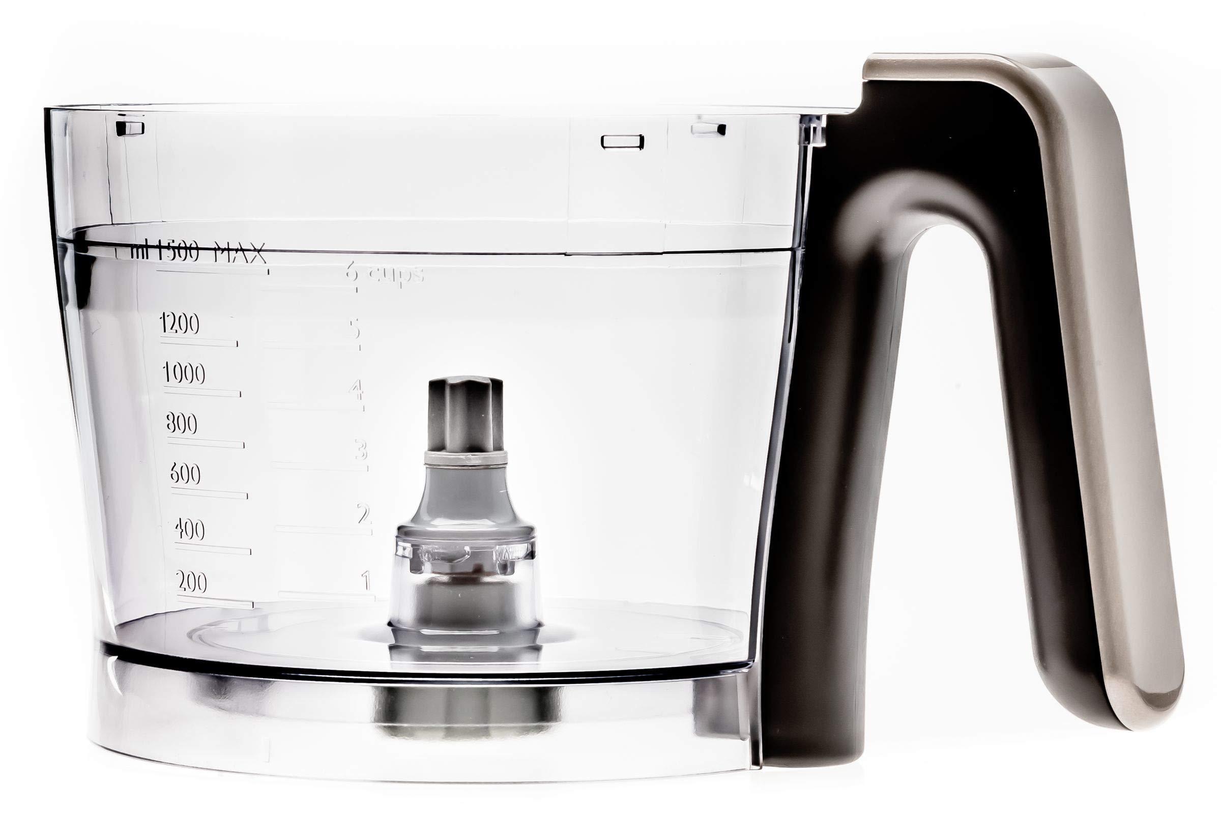 Philips Recipiente para robot de cocina CP9090/01 - Accesorio procesador de alimentos (Cuenco, Negro, Transparente, HR7761, HR7762, 1 pieza(s)): Amazon.es: Hogar