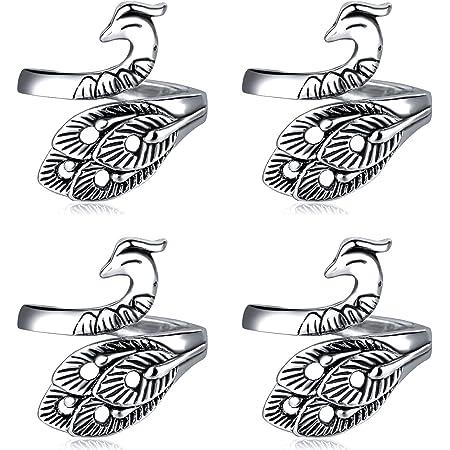 Comprend 2 Anneaux /à Tricoter Ouverts avec Guide-Fil Ajustable WILLBOND 6 Pi/èces Anneau de Boucle de Tricot Accessoires de Tricot en Boucle 4 Pi/èces Porte-Doigt de Guide-Fil en M/étal D/é /à Tricoter