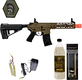 Airsoft Rifle VFC Avalon Saber CQB with Elite Force .25G BBS 5000CT Battery Charger Patch and Speedloader