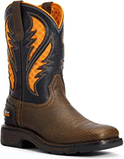 ARIAT Boys' Venttek Western Work Boot Soft Toe Brown 6 D